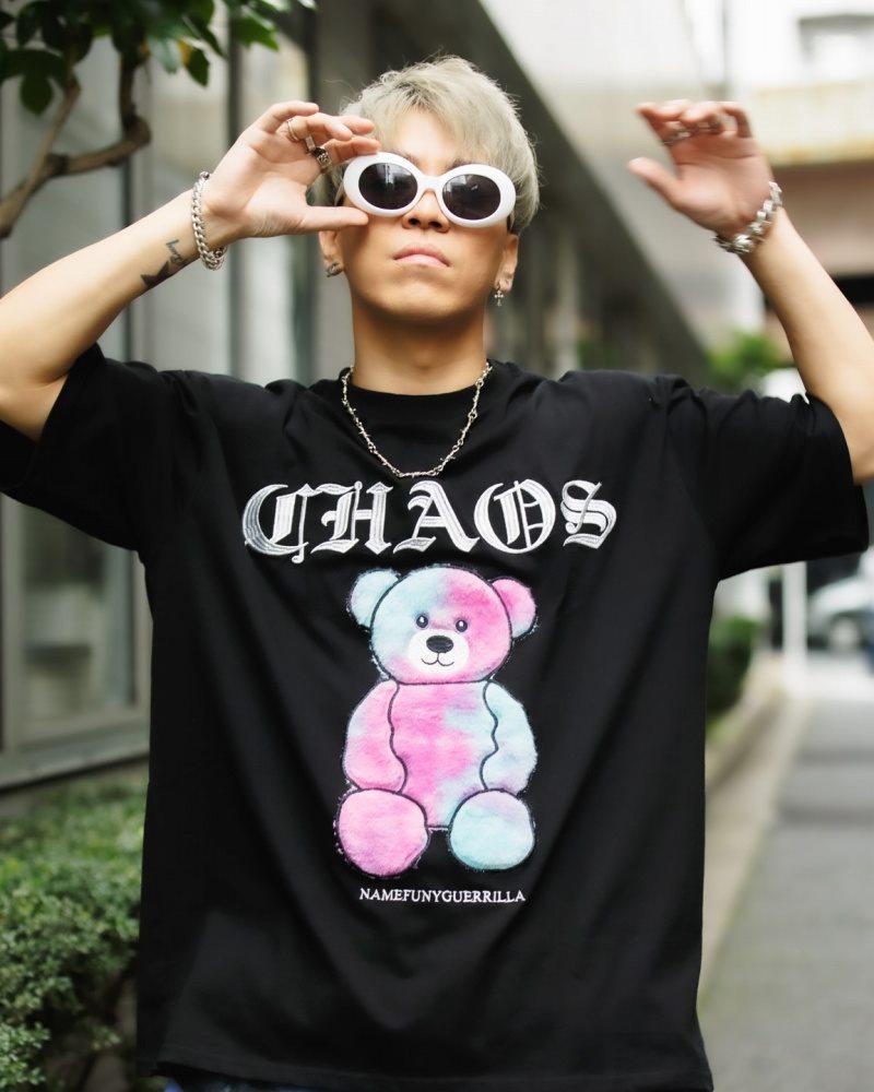 《3色》CHAOSファンタジーモコモコクマTシャツの画像2